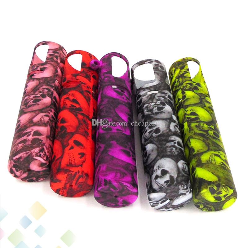 ijust s Silicone Case Skull Head Fashion Rubber Sleeve Protective Cover Skin For i just s 3000mah Battery DHL Free