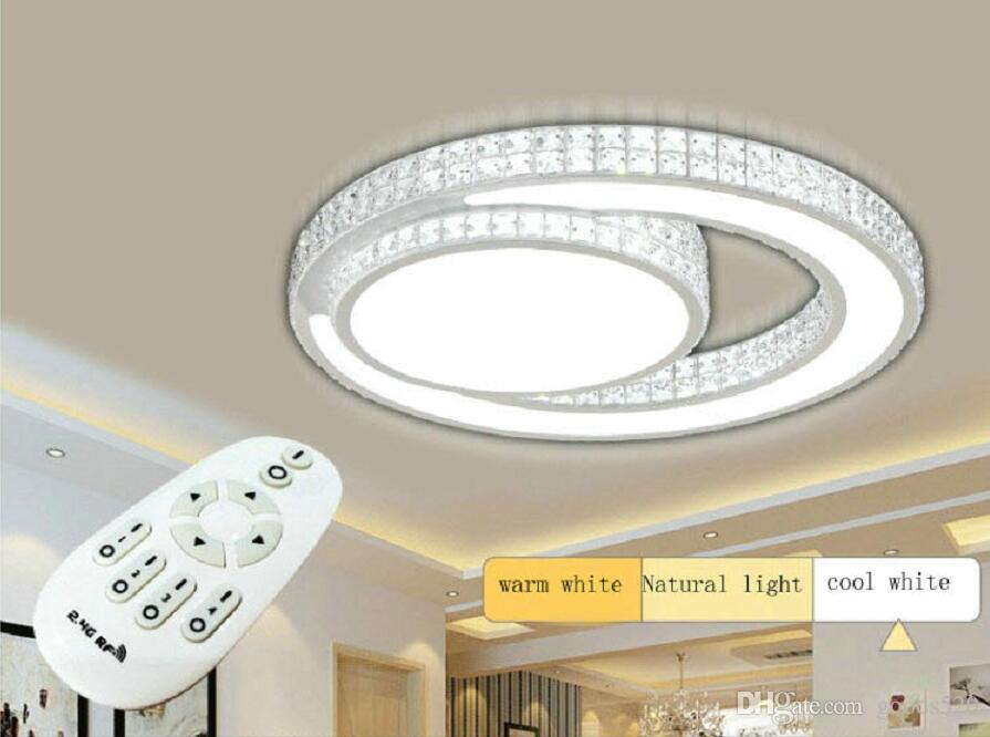 Plafoniere Led A Soffitto Moderno Dimmerabile : Luminosità dimmable moderno soffitto a led luci acrilico soggiorno