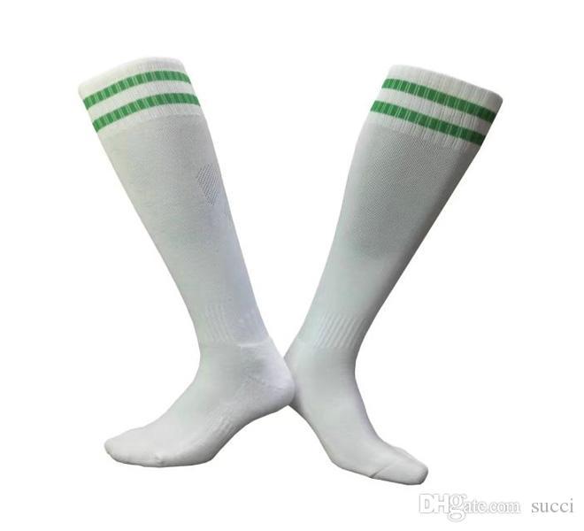 eba4ee311d6c Men green white soccer socks adult two stripes thick soles jpg 660x600  Green and white soccer