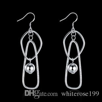 Wholesale  - 最低価格クリスマスギフト925スターリングシルバーファッションイヤリングE072