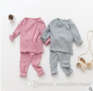 Owlbaby Kids Pajamas For Baby Boys Girls Solid Color Ruffle ...