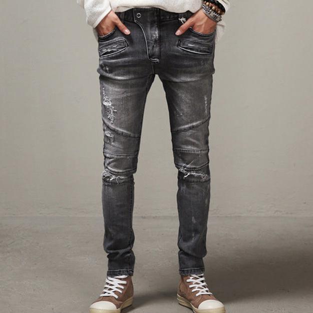 best quality wholesale 2015 men slim jeans men s distressed biker