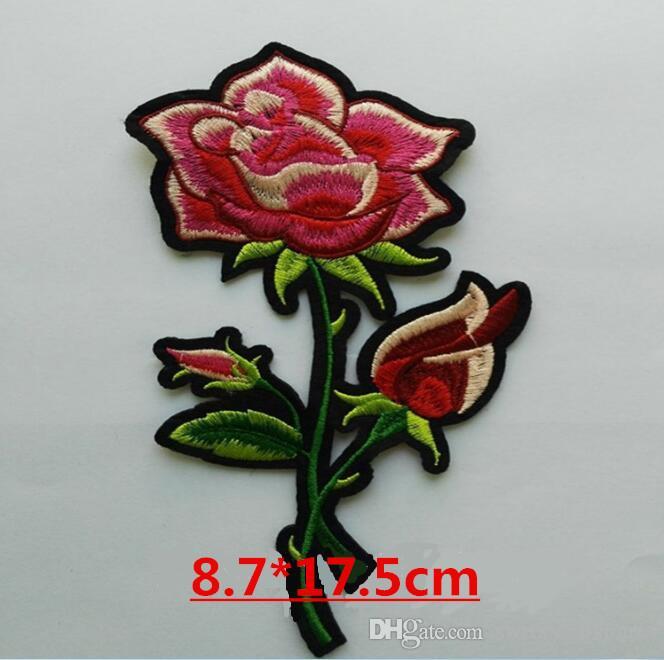 Die neue Mode DIY Stickerei Rose Blume Patch Post große Kleidung Nähen auf Patch Applique Stickerei Stück Kleidung Dekoration Reparatur Loch