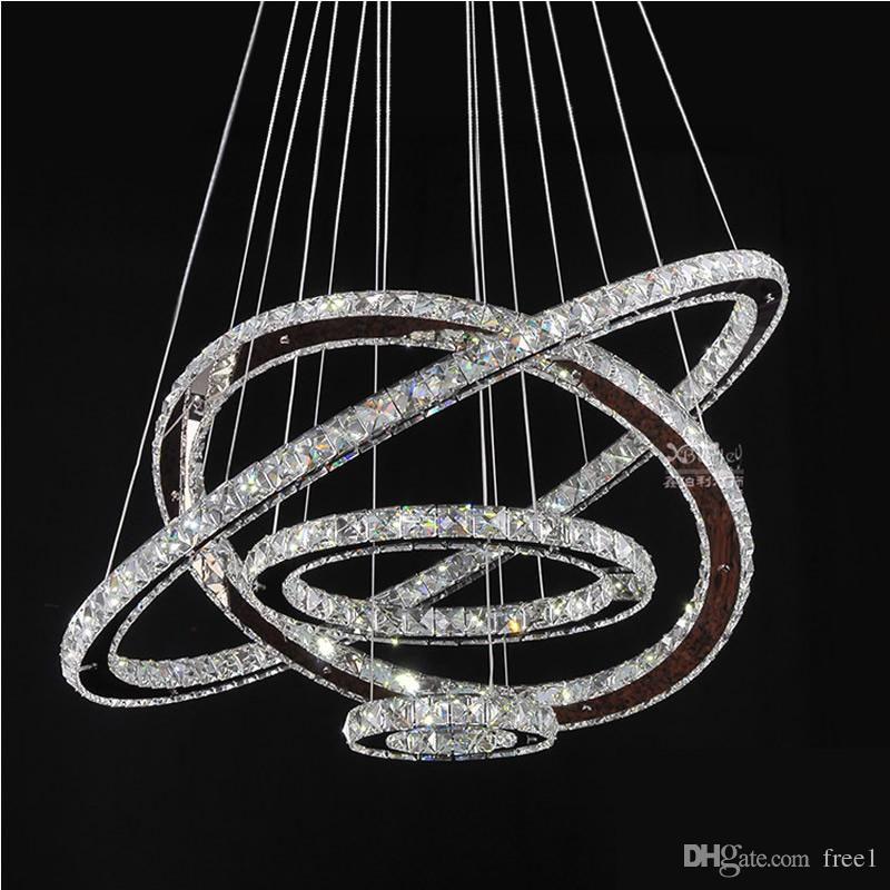 Led Chandeliers Crystal Round Rings Lighting Fixtures Modern ...