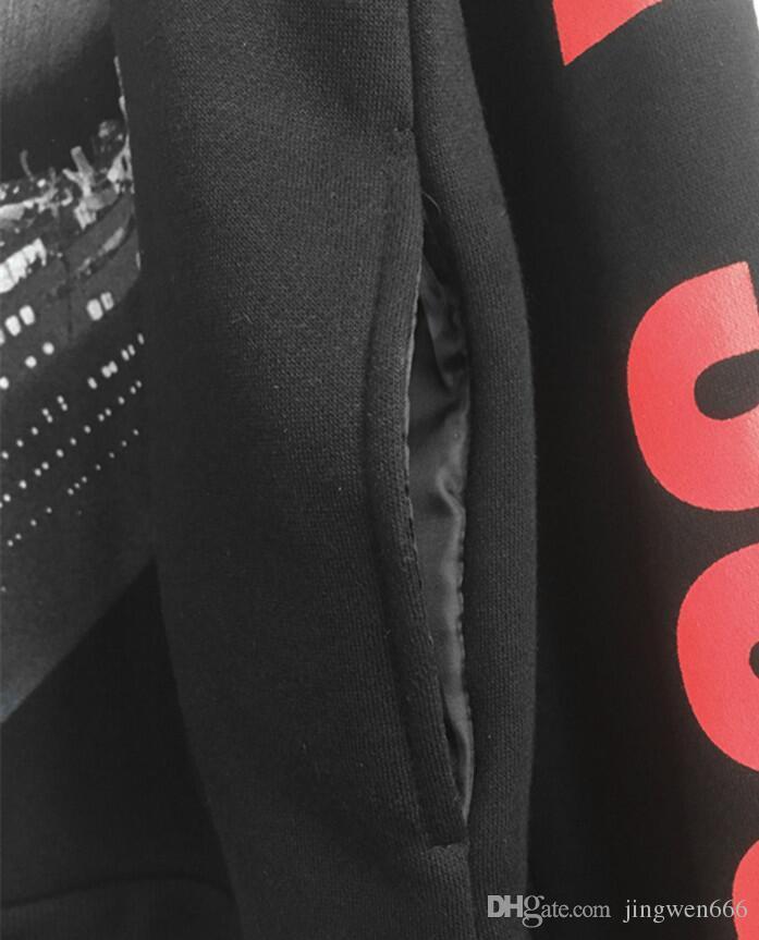 Die neueste Tide Brand Herrenbekleidung Designer Hip-Hop-Kleidung Titanic Fashion schwarz übergroße Hoodie-Pullover Lovers-Sweatshirt