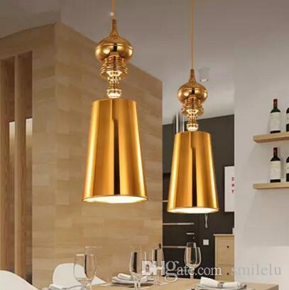 Modern restaurant bar light fixture europe style living room corridor guard single head pendant light gold silver chrome semi flush ceiling lights