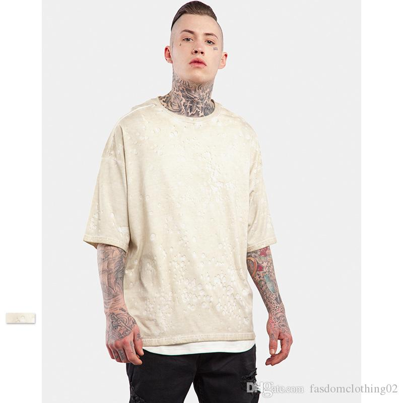 Mens Oversize T Shirt New Fashion Half Sleeve Loose Tshirts For ...
