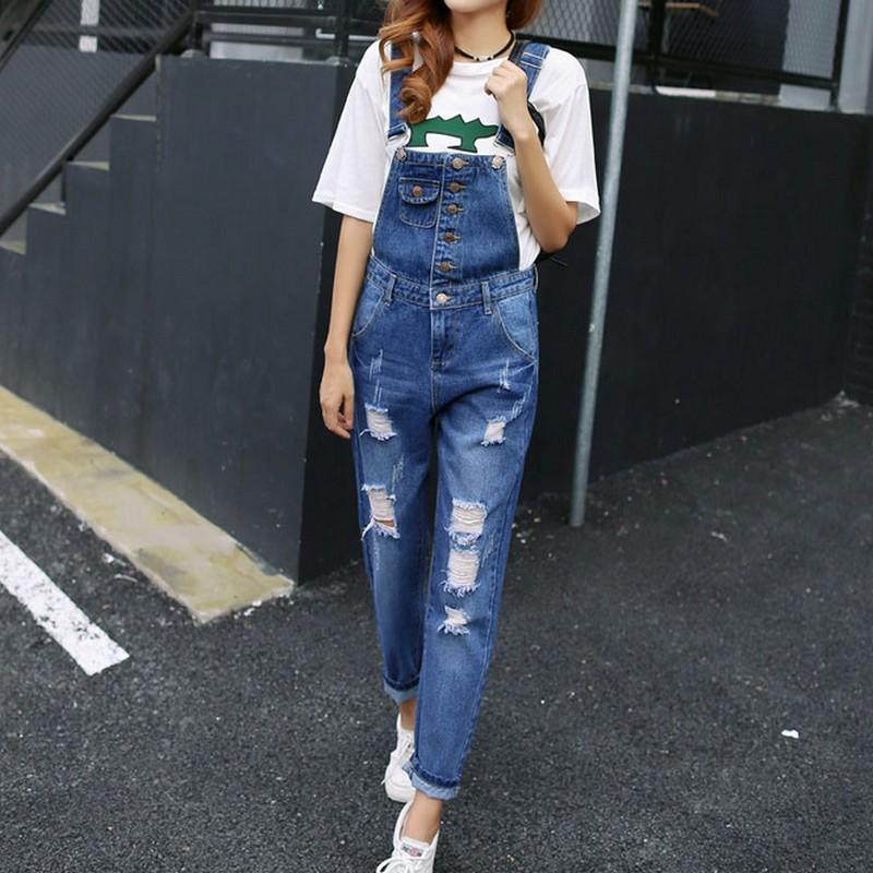 83806d7d600f 2019 Super Cool Boyfriend Ripped Denim Jumpsuits Women Vintage Hollow  Salopette Mujer 2017 New Overalls Plus Size With Pocket Rompers From  Fincek007
