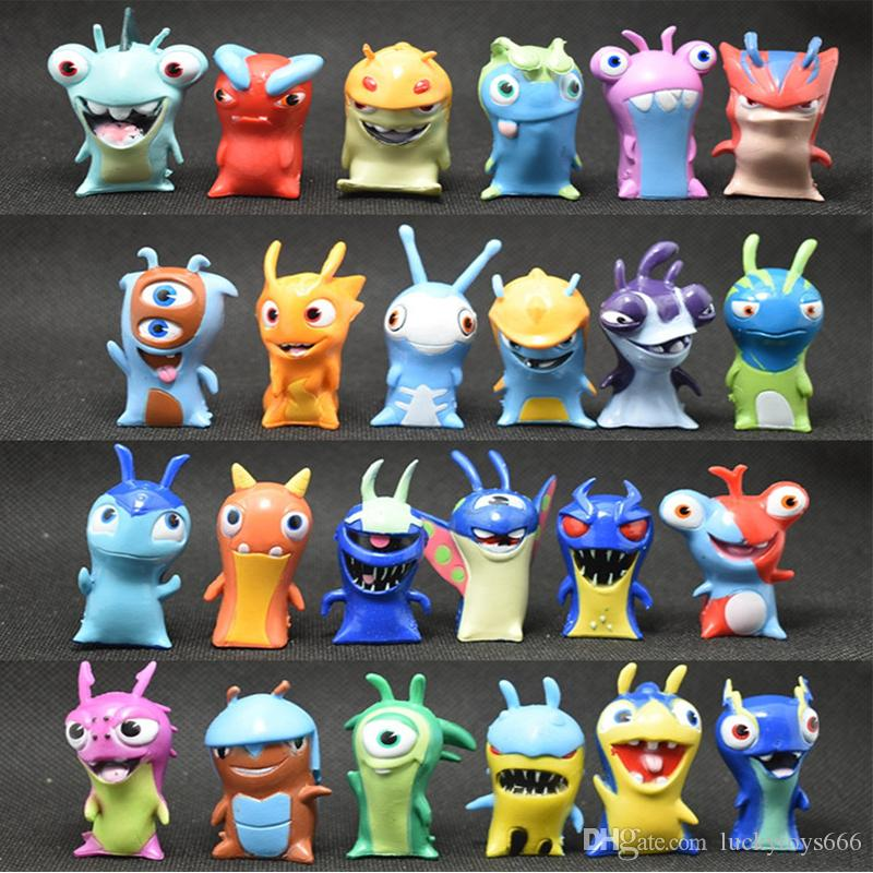 Free Shipping Slugterra Action Figures Building Blocks Kid Toy 24pcs/set Toy Model Children Toys 161206