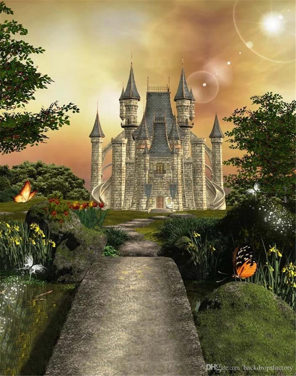 outdoor backgrounds. Interesting Backgrounds 2018 Long Road To Vintage Castle Photo Studio Backgrounds Trees Butterfly  Kids Outdoor Background Princess Girl Fairy Tale Photography Backdrop From  For D