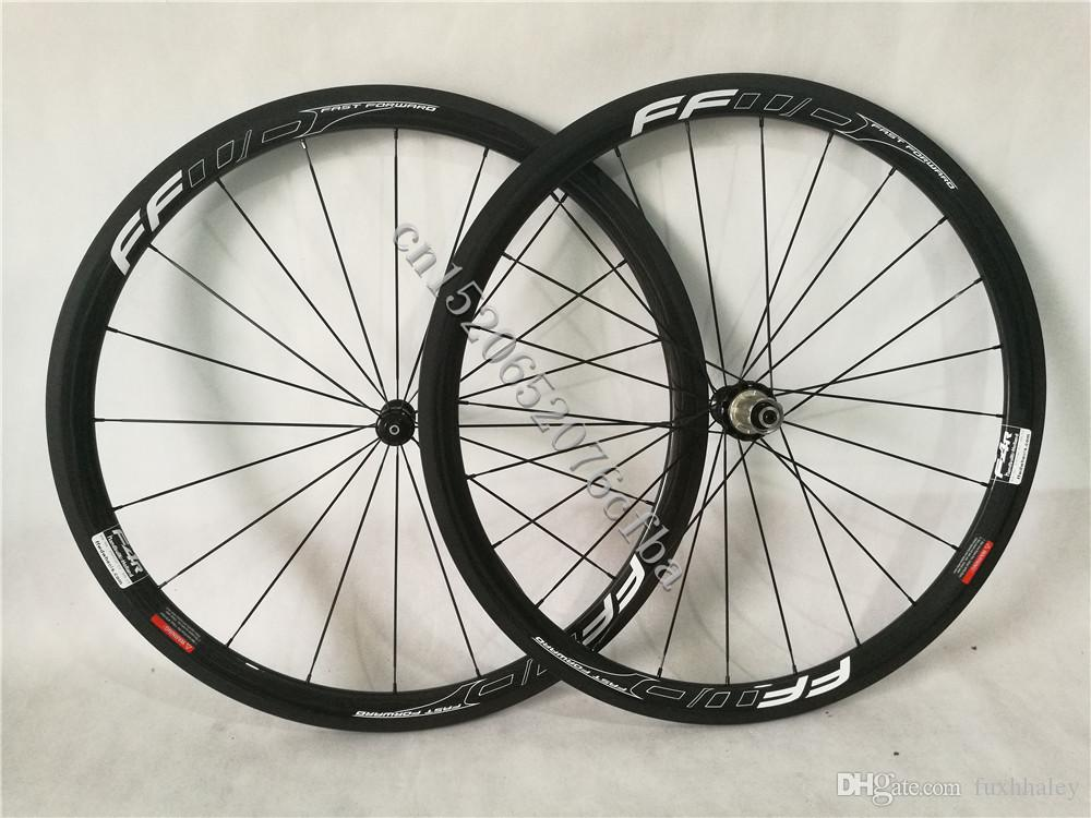 Cheap and Good quality 700c 38mm FFWD Fast forward F4R White painting road bike carbon Wheelset with R36 Straight pull carbon ceramic hubs