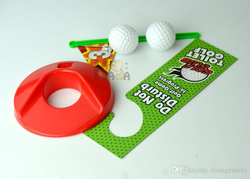 Sports Toys Toilet Bathroom Mini Suit Golf Toy Putting Green Novelty Funny Game For People Entertainment Recreation 9 8kk H