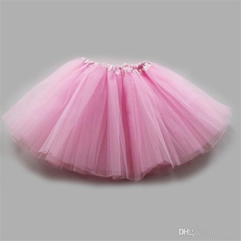 17 couleurs bébé filles danse tulle tutu jupe gaze pettiskirt enfants enfants vêtements de danse ballet robe fantaisie jupes costume jupe KTS01