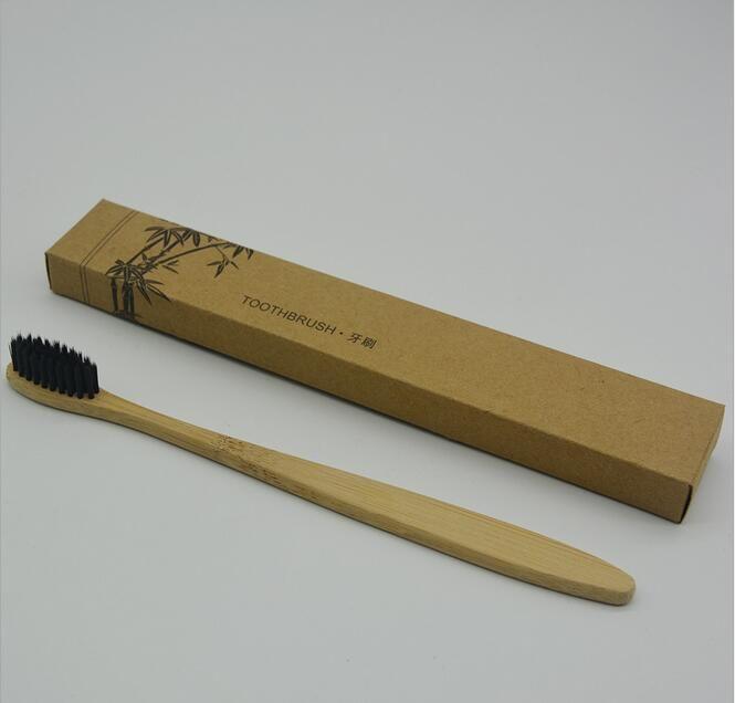 Bamboo Spazzolino Protezione Ambientale Naturale Qualità Denti alta salute di bambù mano morbida Spazzolini viaggio Hotel Usa