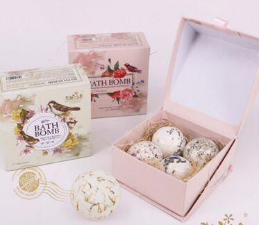 Natural sea salt oil bath ball suits Lavender flower ball bubble bath salt Embellish skin care Clean the skin