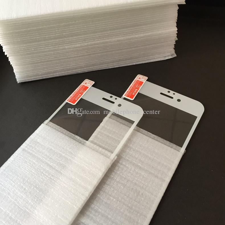 0.2mm For iPhone 6 6S 6plus 6S plus Full Cover Tempered Glass Screen Protector Anti-Scratch black white color