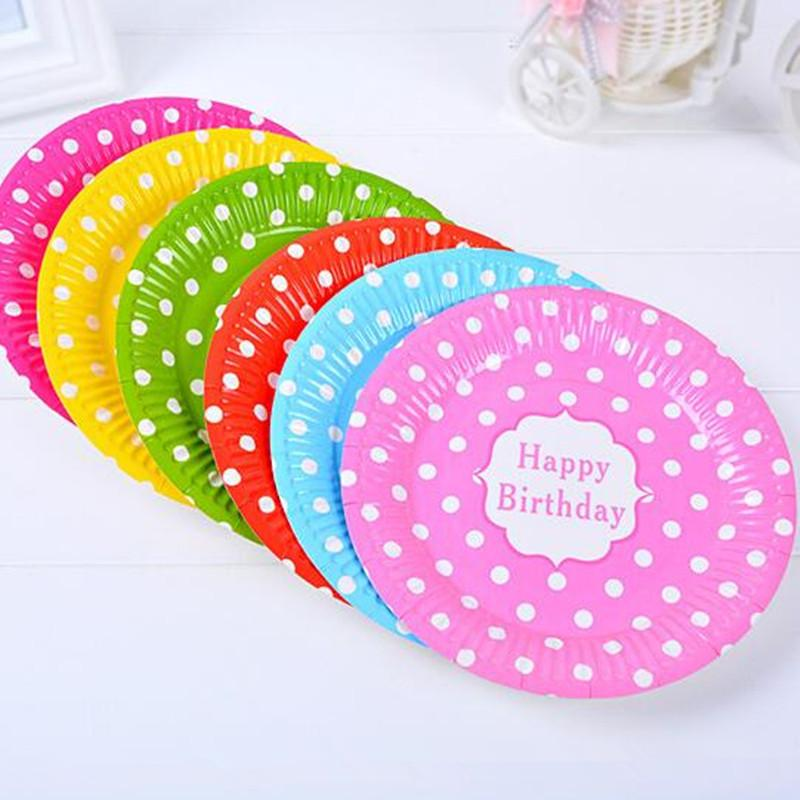 Colorful Polka Dot Plate Disposable Paper Plates Kids Children Birthday Party Supplies Wedding Favors Unusual Wedding Favours Wedding Accessories From ...  sc 1 st  DHgate.com & Colorful Polka Dot Plate Disposable Paper Plates Kids Children ...