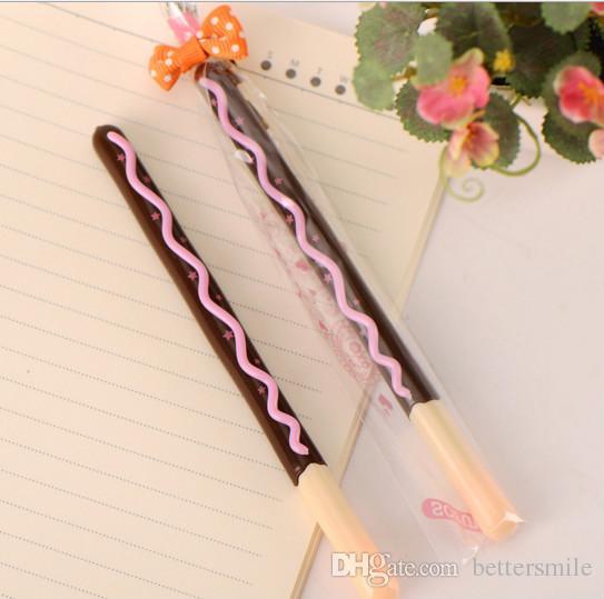 Wholesale gel pen \Chocolate lollipop pencil biscuit with a plastic neutral pen 023