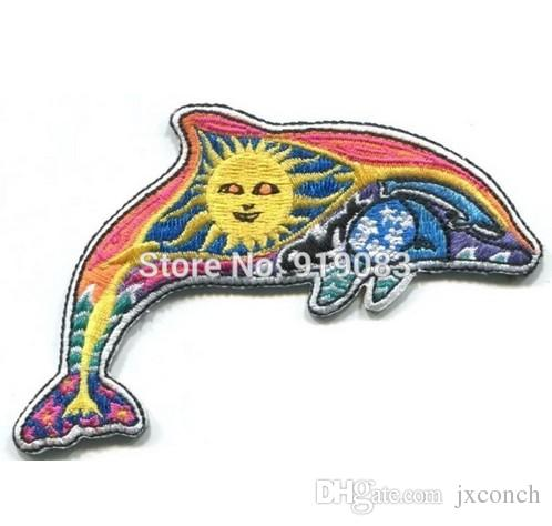 "3.5"" Artist Dan Morris DOLPHIN Hippie Band patch Heavy Metal Music Rock Punk Rockabilly sew on iron on badge"