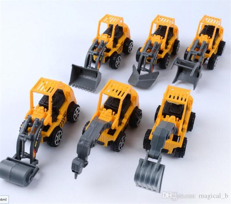 Wholesale Excavator Model Project Car Model Toy Car 6 Children S
