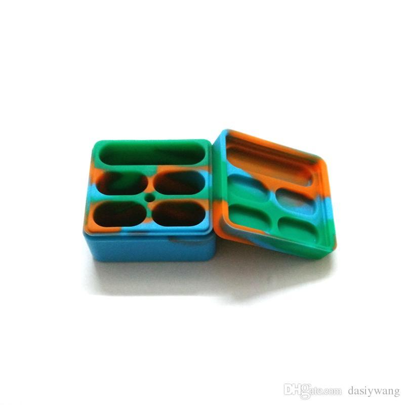 I contenitori del Dab del silicone di 1 pezzo hanno fissato i contenitori di stoccaggio del silicone del bastone di 5 scanalature del contenitore della cera Trasporto libero