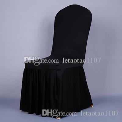 Hot Sales Scollap Chair Covers Spandex Elastic Milk Silk Chair Covers For Wedding Banquet Party Hotel Covers