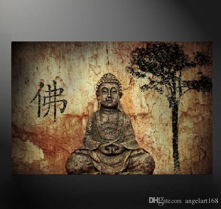 2018 Unframed Big Buddha Poster Giclee Wall Art Oil Painting On ...