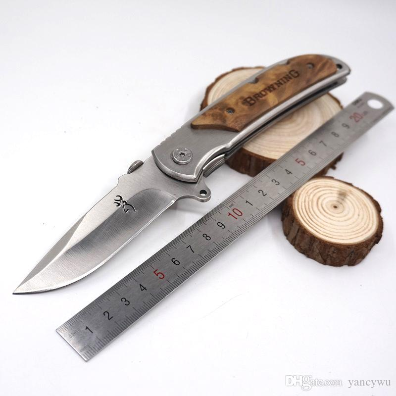 Factory Direct Selling Large size Browning 338 Survival Pocket Folding Knife EDC Knife 440 Stainless Steel With Original Box Packing