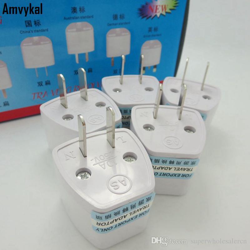 Amvykal Yüksek Kaliteli Seyahat Şarj Cihazı AC Elektrik UK AU AB için ABD fiş adaptörü Dönüştürücü ABD Evrensel Güç Priz Adaptörü Konektörü