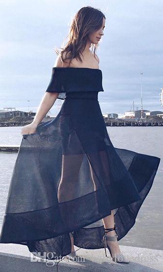 Sexy High Low Organza eine Linie Ballkleider billig 2018 neue Bateau-Ausschnitt Reißverschluss zurück vestidos festa