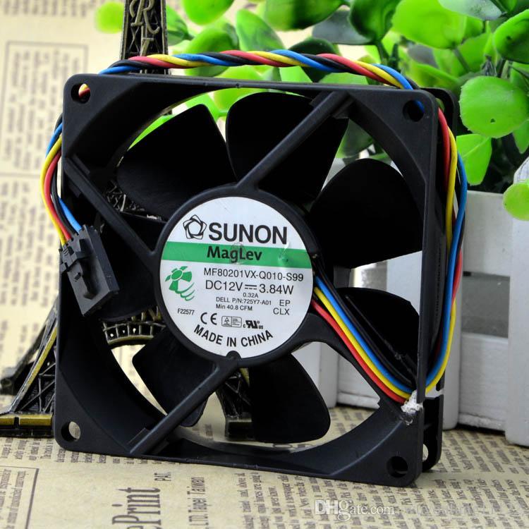 Nowy Oryginalny Sunon MF80201VX-Q010-S99 8020 12 V 3.84W80 * 80 * 25mm 4 Serwer Linia CHASIS Wentylator chłodzący wentylator