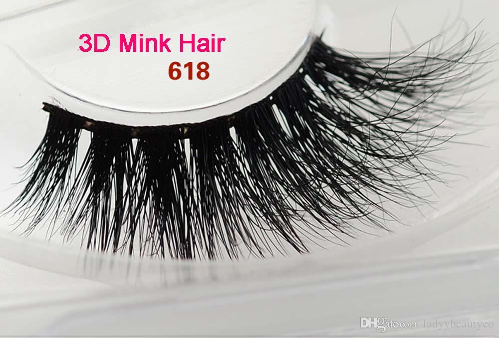 618 High quality 3D mink hair eyelashes100% Real Siberian 3D Mink Full Strip False Eyelash Long Individual Eyelashes Mink Lashes Extension