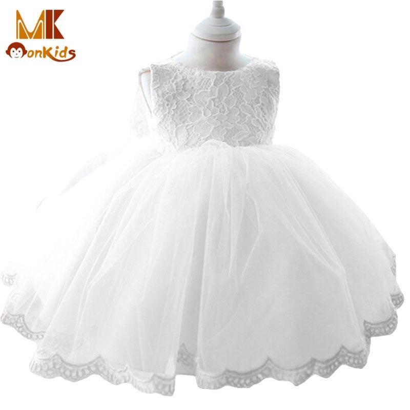 09d3d34c914 2019 Wholesale Monkids 2016 Fashion Vintage Style Baptism Baby Girl Dresses  Children S Dresses Ball Gown Tutu Princess Sleeveless Baby Dress From  Paradise02 ...