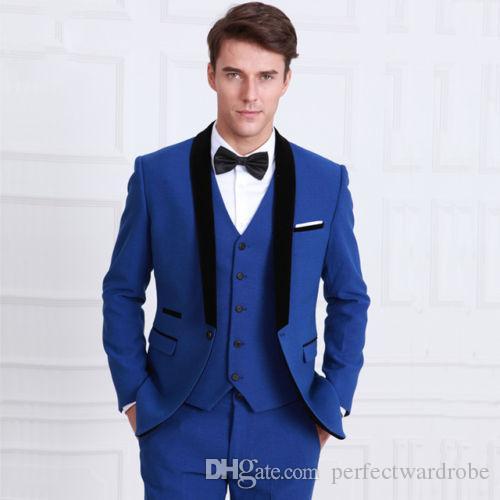 Popular Royal Blue Men Suits Blazer 2017 Hot Special Design Black ...