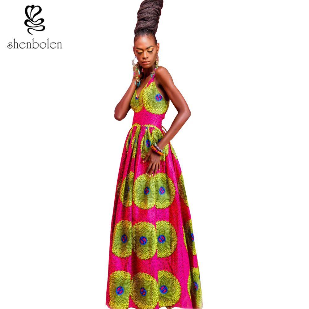 Großhandel 2017 Afrikanische Kleider Für Frauen Ankara Stil Batik ...