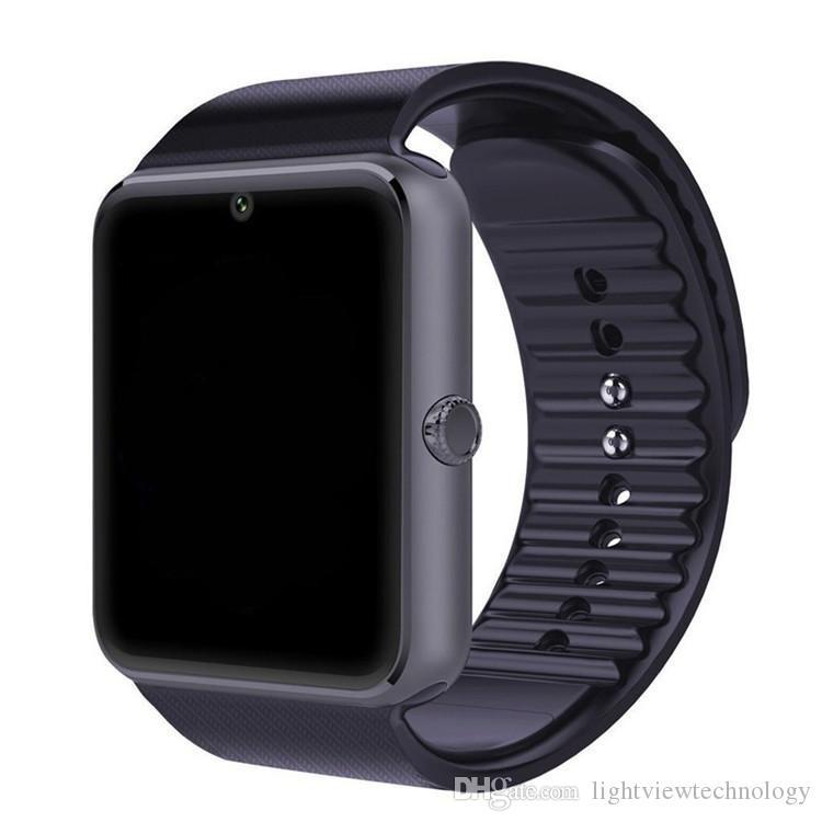 Bluetooth Smart Watch Phone GT08 для Android IOS наручные часы поддержка SIM / TF карты камеры шагомер мониторинг сна VS DZ09 высокое качество