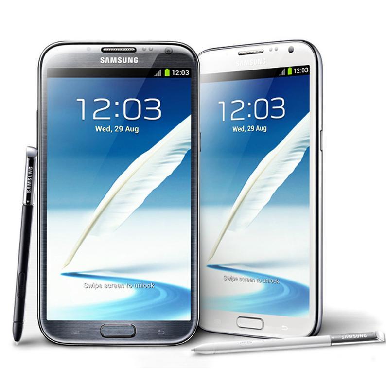 Remis à neuf Samsung Galaxy Note 2 Note 2 N7100 N7105 5,5 pouces quad core 16 Go 3G WCDMA 4GLTE déverrouillé téléphones cellulaires Original LCD