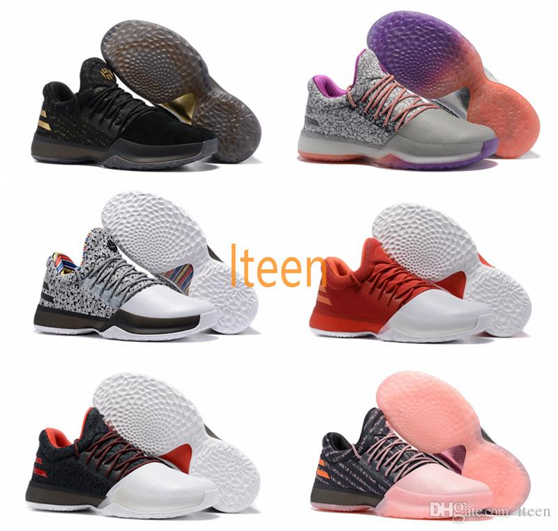 James Harden Gold Shoes: Harden Vol.1 Men Basketball Shoes ALL Star No Brakes BHM