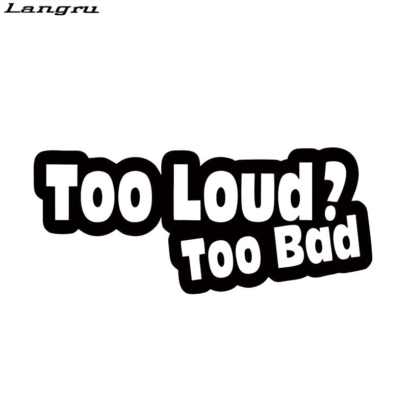 Too bad sticker vinyl decal car funny graphic new humour joke prank car stying jdm from langru1003 1 3 dhgate com