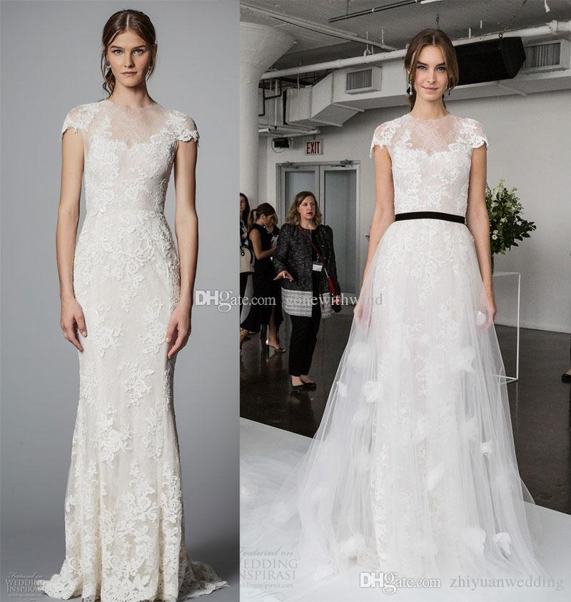 Discount Tulle Overskirt A Line Wedding Dresses 2018 Marchesa ...