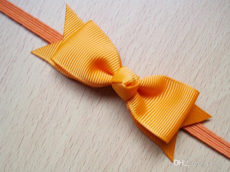 Christmas Infant Baby Bowknot Headbands Kids Nylon Hairband Fabric Bows Headwear Hot Sale For Baby Hair Accessories