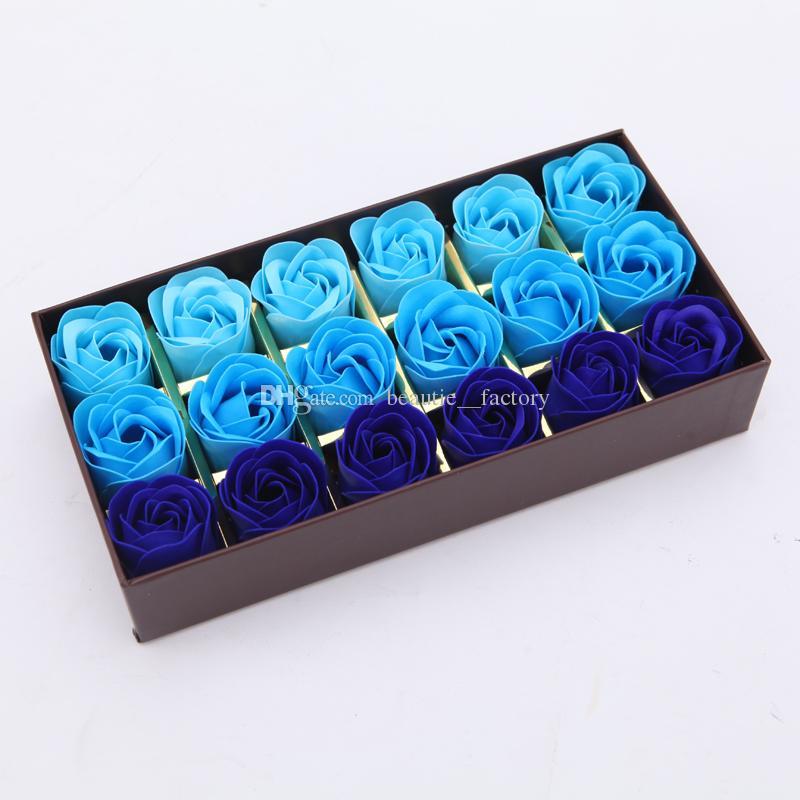 Rose Bath Savon Flower Teatal Set avec boîte-cadeau pour la fête de mariage Saint-Valentin 4 Style