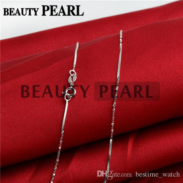 Wholesale Women Girl Beauty Jewellery Unique Necklace Collar 1mm 925 Sterling Silver Necklace Chains