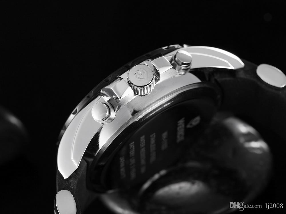 WEIDE Nova Marca de Moda de Quartzo Relógio Digital Assista Homens Homem Preto Relé de Borracha Relogio Militar Reloj Masculino Hombre Horloge