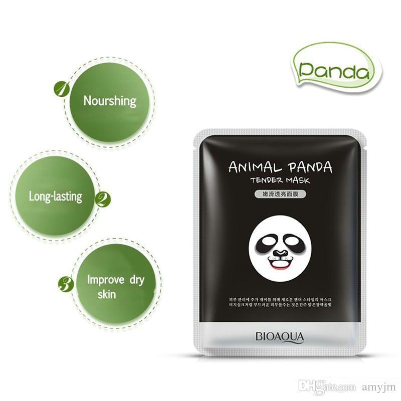 wholesale BIOAQUA Facial supple Masks Animal Face Mask Tiger Panda Sheep Dog Shape Moisturizing Oil Control Hydrating Nourishing