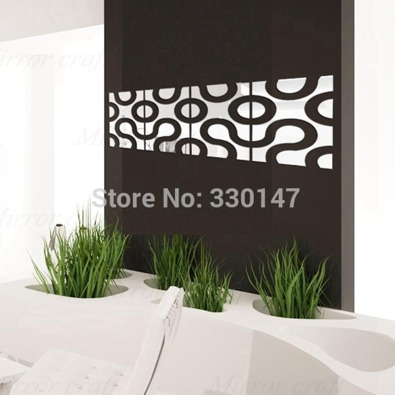Acrylic Wall Mirror new 30x120cm big round circle acrylic wall sticker mirror plastic