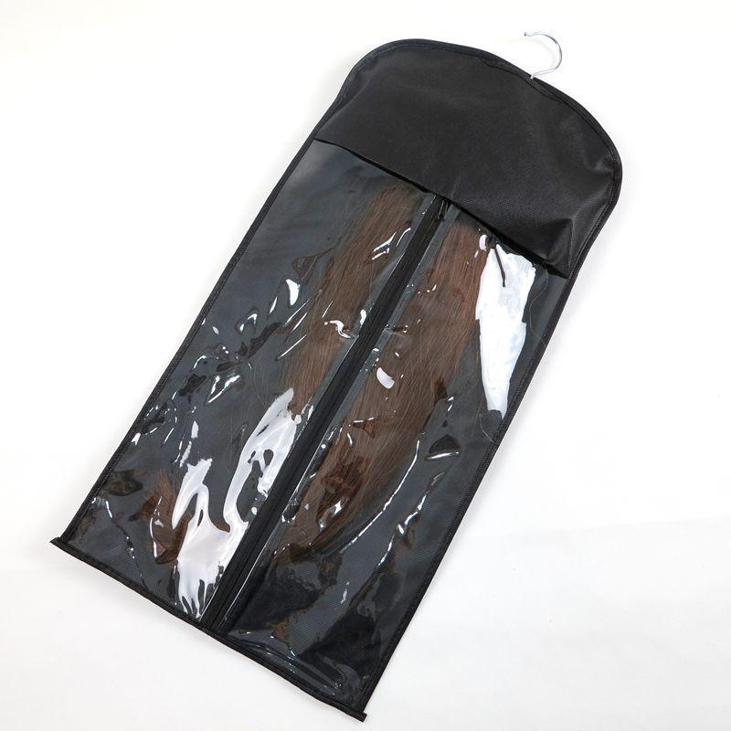 ملحقات الشعر حقيبة التعبئة حقيبة حزمة الغبار مع شماعات ل مقطع الشعر لحمة الشعر البشري أدوات الشعر Professinal