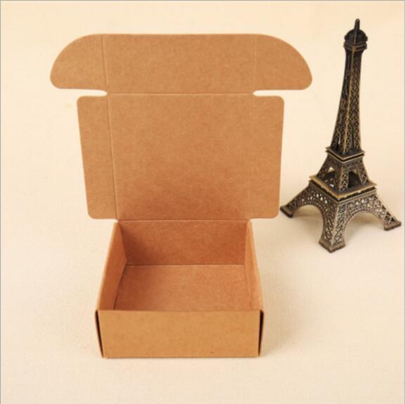 تصميم جديد الفرح كرافت صناديق كرتون اليدوية الصابون التغليف مربع Handmand هدية حزمة كرافت صناديق 2 الحجم يمكن أن تختار