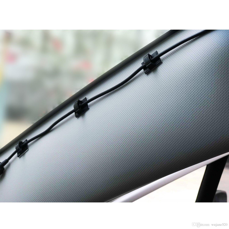 كابل كليب المشبك 3M حامل سلك حبل ذاتية اللصق التعادل كليب قطرة إدارة منظم للمنزل مكتب سيارة في أسود أبيض