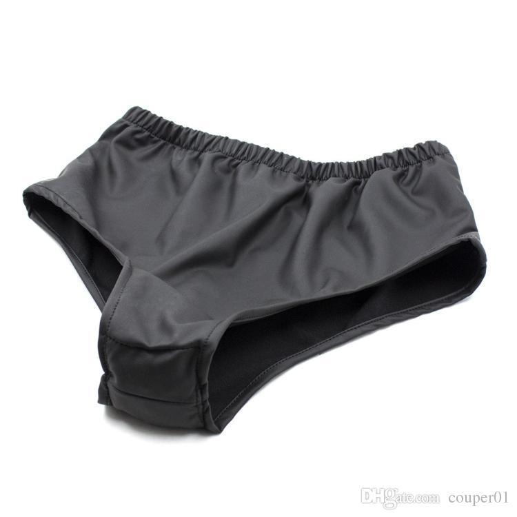 Sous-vêtements masculins de sous-vêtements de masturbation féminine, pantalon avec jouet anal de ceinture de chasteté de gode anal, produits de sexe de prise vaginale / anale